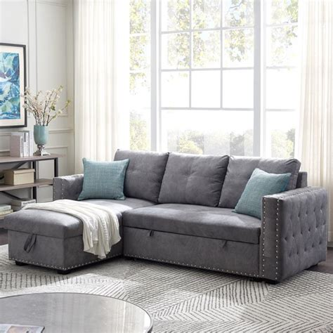 Bonus Pull Out Sectional Couch