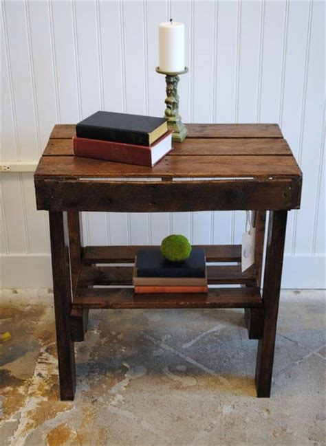 Book End Table Diy Pallet