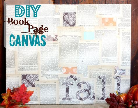 Book Page Frame Diy Canvas