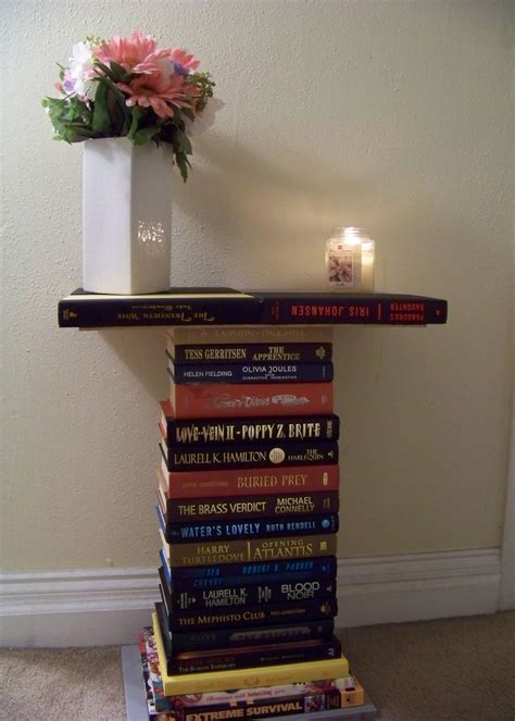 Book Side Table Diy