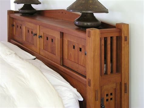 Bookcase King Size Headboard Woodworking Plans