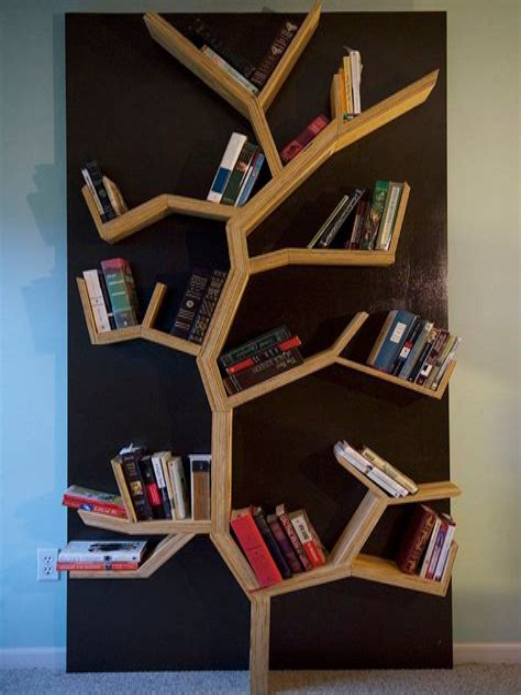 Bookcase-Tree-Diy