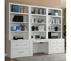 Best Bookcase desk wall unit white