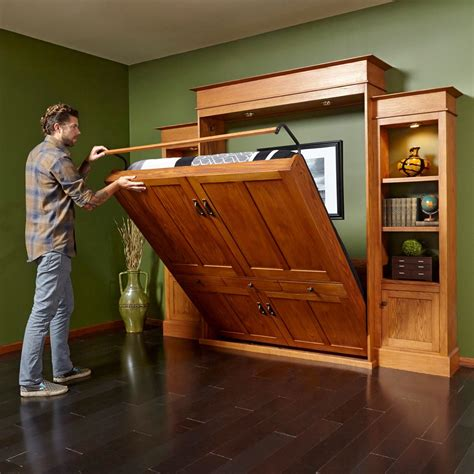 Bookshelf Murphy Bed Diy Construction