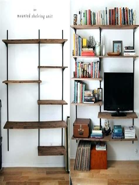 Bookshelf-On-Wall-Diy