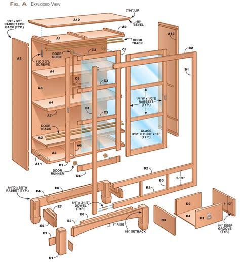 Bookshelf-Plans-With-Doors