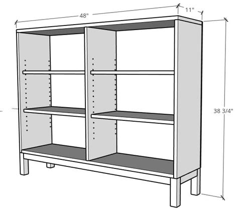 Bookshelves Plans One Sheet Plywood Table Plans