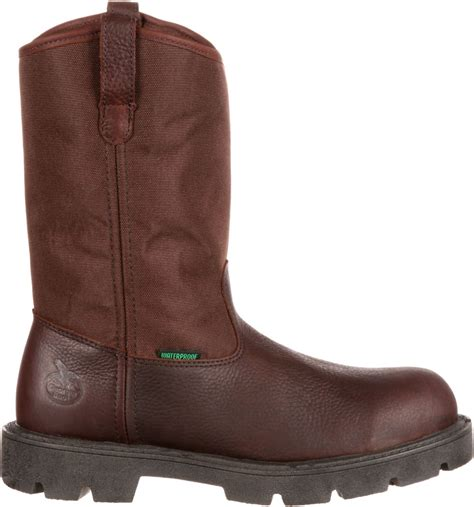 Boot Men's Homeland Steel Toe Wellington Work Shoe
