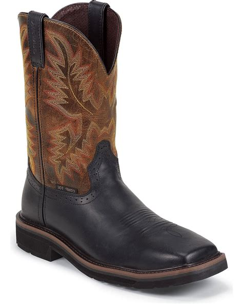 Boots Men's Stampede Pull-On Square Toe Work Boot