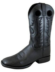 Boots Western Mens Outlaw Square Toe Black 4056