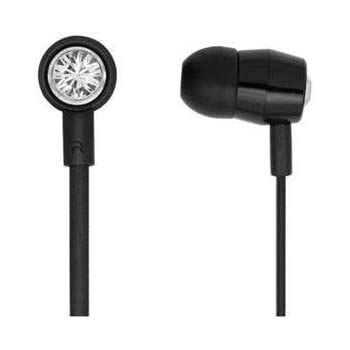 Bornd T620 Swarovski Crystals In-ear stereo earphone with Microphone and Remote (White)