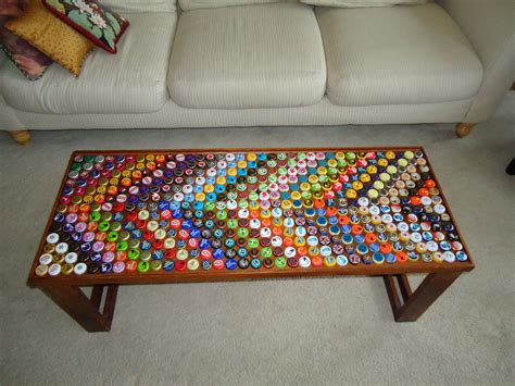 Bottle Cap Coffee Table Diy Projects