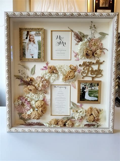 Bouquet Shadow Box Diy Art