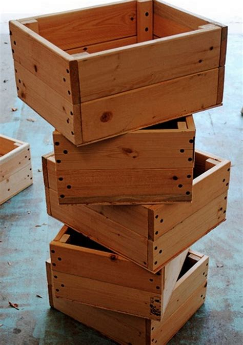 Box Crates Diy Wood