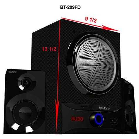 Boytone Wireless Bluetooth Speaker Powerful Bass System with FM BT-209FB RB