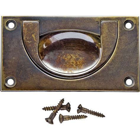 Brass Recessed Cabinet Pulls