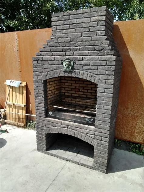 Brick Barbecue With Chimney Plans Construction Toupie
