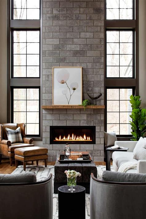 Brick Barbecue With Chimney Plans Floor To Ceiling