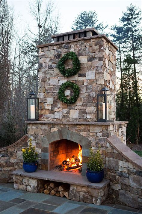Brick Fireplace Plans Outdoor