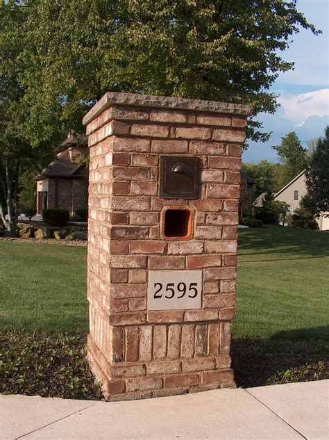 Brick Mailbox Designs Diy