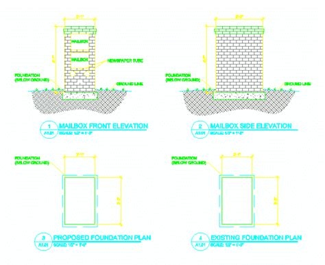 Brick Mailbox Plans Softplan Cad