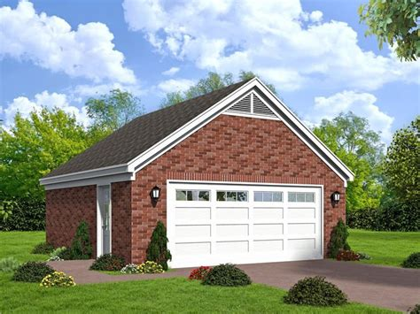 Brick Two Car Garage Plans