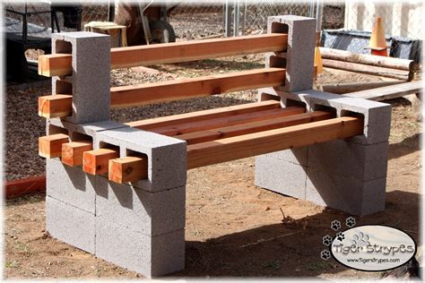 Brick-And-Wood-Bench-Plans