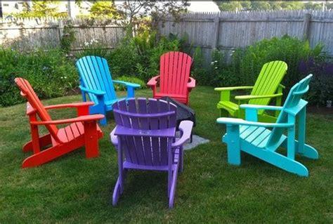 Bright-Colored-Plastic-Adirondack-Chairs
