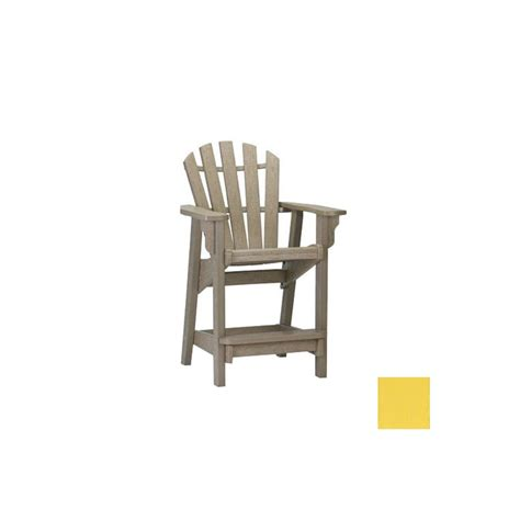 Bright-Yellow-Plastic-Adirondack-Chairs