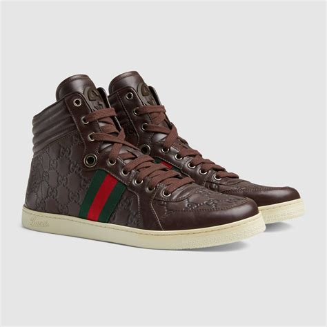 Brown Gucci High Top Sneakers
