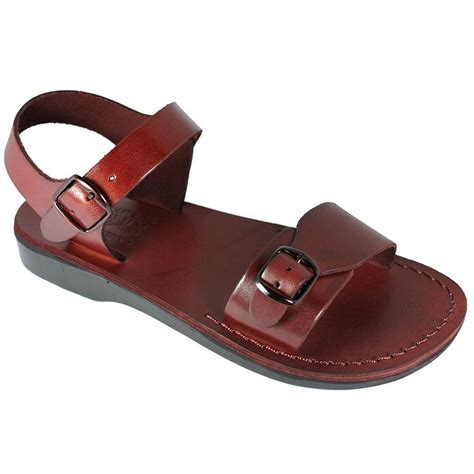 Brown Leather Size US Men's 10 Women's 12 EU44 Greek Roman Jesus Biblical Sandals Style 506
