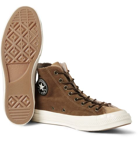 Brown Suede Converse Sneakers