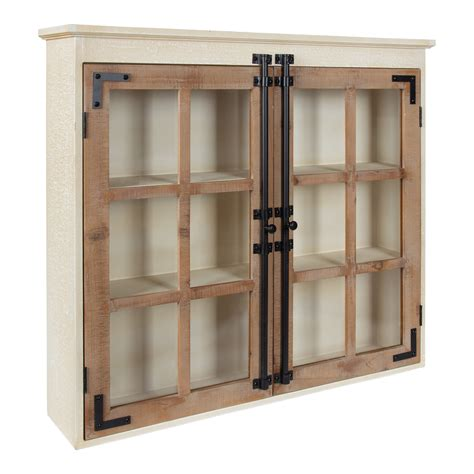 Brown Wood Wall Storage Cabinet
