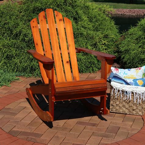 Brown-Adirondack-Rocking-Chairs