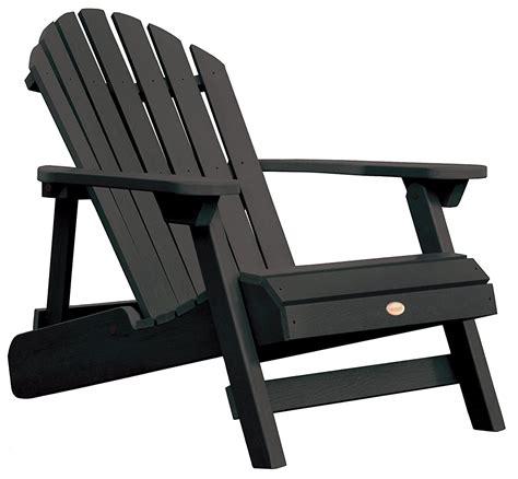 Brown-And-Black-Adirondack-Chairs