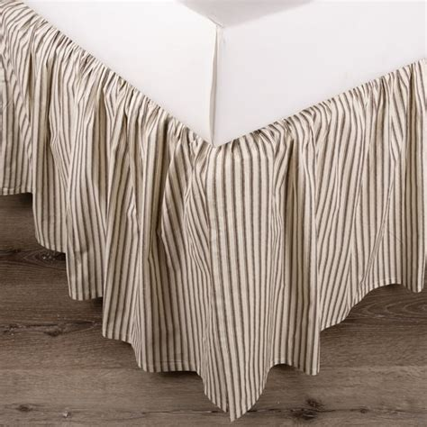 Brown-Stripe-Farmhouse-Bedding