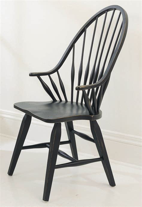 Broyhill Attic Heirlooms Black Dining Windsor Side Chair