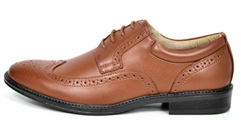 Bruno Marc London Men's Classic Modern Oxfords Round-Toe Wingtip Comfort Lace Buckle Casual Dress Shoes
