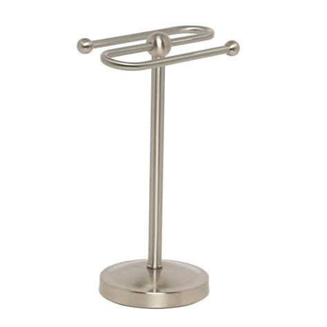 Brushed Nickel Freestanding Towel Stand
