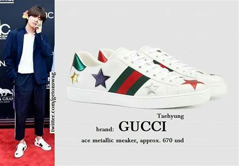 Bts Wigh Gucci Sneakers