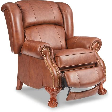 Buchanan High Leg Leather Recliner