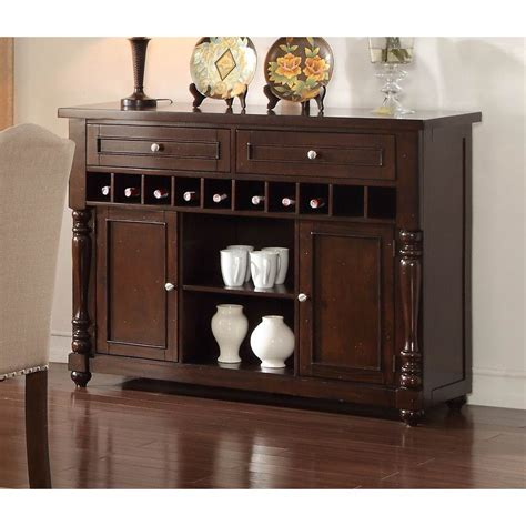 Buffet With Wine Racks This Servers