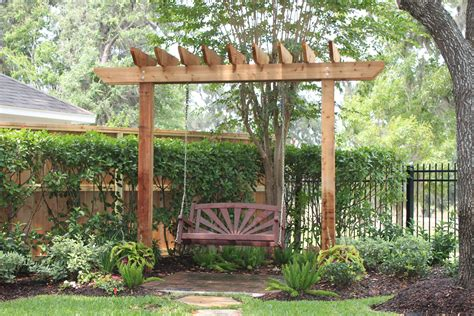 Build A 2 Post Pergola Swing Plans