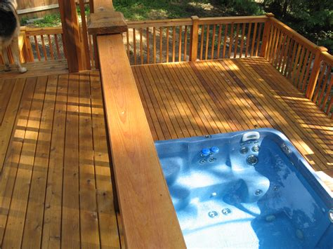 Build A Deck Around Your Jacuzzi Tubs