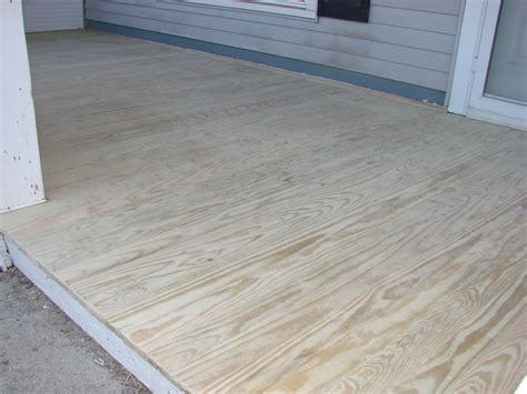 Build A Deck With Plywood And Tiles