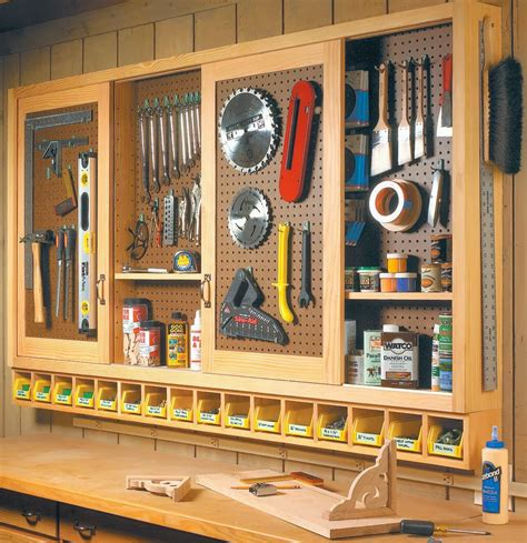 Build A Pegboard Storage Cabinet
