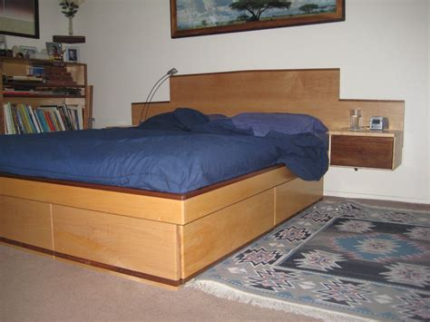 Build A Platform Bed With Large Drawers