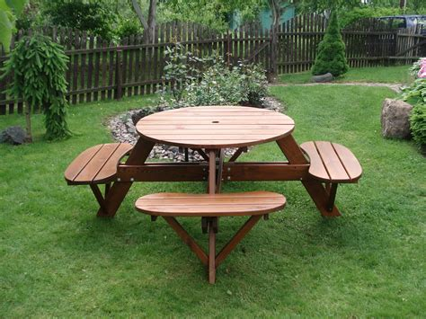 Build A Round Picnic Table