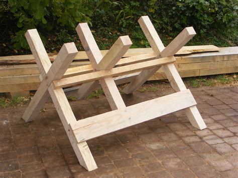 Build A Sawhorse For Cutting Logs On Table Saw