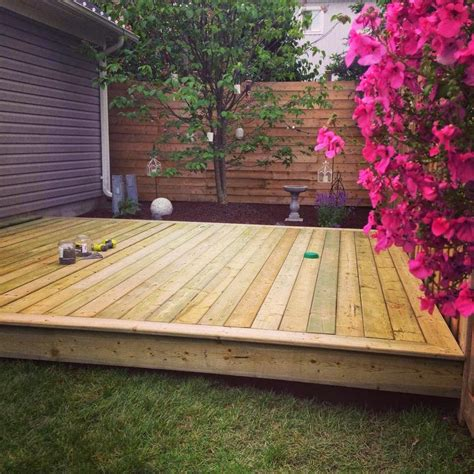 Build A Small Platform Deck